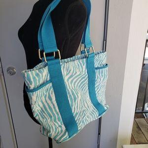 🌻 Express Y2K zebra print tote bag